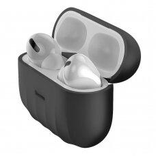 Baseus Shell Silica Gel Case Protector for Apple Airpods Pro juodas (WIAPPOD-BK01) (ctz220)