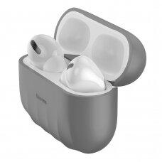 Baseus Shell Silica Gelinis Dėklas Apple Airpods Pro Pilkas (Wiappod-Bk0G)