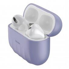 Baseus Shell Silica gelinis dėklas Apple Airpods Pro violetinis (WIAPPOD-BK05) (ctz220)