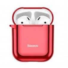 BASEUS SHINING HOOK CASE SILICA gelinis dėklas AIRPODS 1/2 raudonas (ARAPPOD-A09)