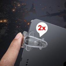 Baseus Shooting Game Tool Extra Buttons Grip Bumpers skirta Tablet Pad skirta Gamers Transparent (Acpbcj-02)