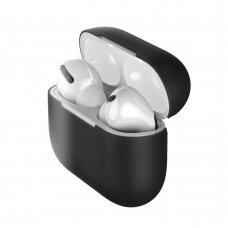 Baseus Silica Gelinis Dėklas Apple Airpods Pro Juodas (Wiappod-Abz01)
