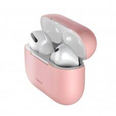 Baseus Silica gelinis dėklas Apple Airpods Pro rožinis (WIAPPOD-ABZ04) (ctz220)