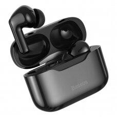 Baseus SIMU S1 5.1 TWS bevielės Bluetooth ausinės su aktyviu triukšmo slopinimu ANC Juodas (NGS1-01)