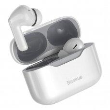 Baseus SIMU S1 5.1 TWS bevielės Bluetooth ausinės su aktyviu triukšmo slopinimu ANC Baltas (NGS1-02)
