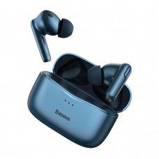 Baseus SIMU S2 5.0 TWS bevielės Bluetooth ausinės su aktyviu triukšmo slopinimu ANC Mėlynas (NGS2-03)