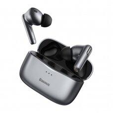Baseus SIMU S2 5.0 TWS bevielės Bluetooth ausinės su aktyviu triukšmo slopinimu ANC Pilkas (NGS2-0G)