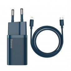 Baseus Super Si 1C Greitas Buitinis Įkroviklis USB Type C 20 W Mėlynas (CCSUP-B03)