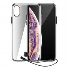 """Tpu Dėklas Su Virvute """"Baseus Key Case"""" Iphone Xs Max Juodas (Wiapiph65-Qa01)"""