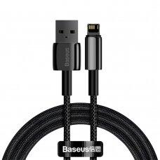 Kabelis Baseus Tungsten USB - Lightning 2,4 A 1 m Juodas (CALWJ-01)