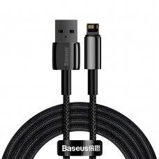Kabelis Baseus Tungsten USB - Lightning 2,4 A 2 m Juodas (CALWJ-A01)