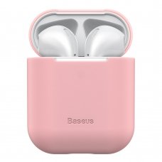 BASEUS ULTRATHIN SERIES SILICA GEL PROTECTOR FOR AIRPODS 1/2 PINK (WIAPPOD-BZ04)