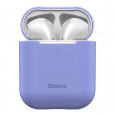 BASEUS ULTRATHIN SERIES SILICA GEL PROTECTOR FOR AIRPODS 1/2 PURPLE (WIAPPOD-BZ05)