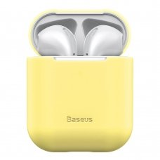 BASEUS ULTRATHIN SERIES SILICA GEL PROTECTOR FOR AIRPODS 1/2 YELLOW (WIAPPOD-BZ0Y)