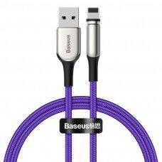 Baseus Zinc magnetic USB kabelis - Lightning 2A 1m violet (CALXC-H05) (ctz220)