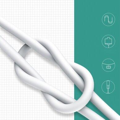 Baseus Mini White Kabelis USB skirtas Micro 4A 1m Baltas 16