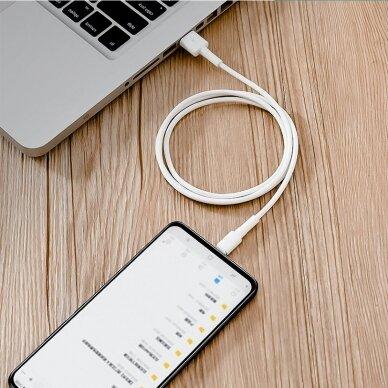 Baseus Mini White Kabelis USB skirtas Micro 4A 1m Baltas 17