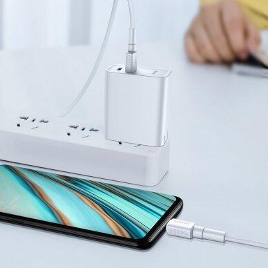 Baseus Mini White Kabelis USB skirtas Micro 4A 1m Baltas 7
