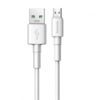 Baseus Mini White Kabelis USB skirtas Micro 4A 1m Baltas 9