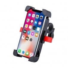 Telefono laikiklis dviračiui Bicycle motorcycle handlebar phone 360 holder juodas