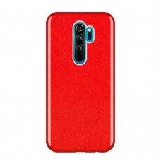 "BLIZGANTIS TPU DĖKLAS ""Wozinsky Glitter Shining"" Xiaomi Redmi Note 8 Pro raudonas   UCS134"