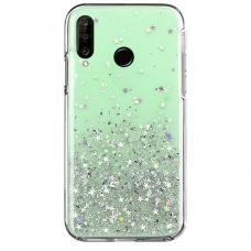 """Blizgus Tpu Dėklas """"Wozinsky Star Glitter"""" Huawei P30 Lite Žalias"""