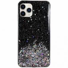 Blizgus Tpu Dėklas Wozinsky Star Glitter Iphone 11 Pro Juodas