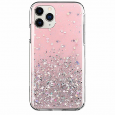 "Blizgus Tpu Dėklas ""Wozinsky Star Glitter"" Iphone 11 Pro Max Rožinis"