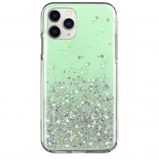Blizgus Tpu Dėklas Wozinsky Star Glitter Iphone 11 Pro Žalias