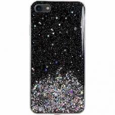 "Blizgus Tpu Dėklas ""Wozinsky Star Glitter"" Iphone 7/ Iphone 8/ Iphone Se 2020 Juodas"