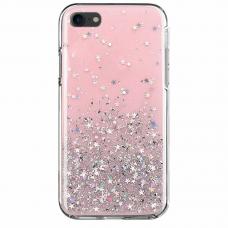 "Blizgus Tpu Dėklas ""Wozinsky Star Glitter"" Iphone 7/ Iphone 8/ Iphone Se 2020 Rožinis"