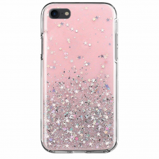 """Blizgus Tpu Dėklas """"Wozinsky Star Glitter"""" Iphone 8 Plus / Iphone 7 Plus Rožinis"""