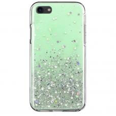 """Blizgus TPU Dėklas """"Wozinsky Star Glitter"""" iPhone 8 Plus / iPhone 7 Plus žalias"""