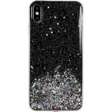 Blizgus Tpu Dėklas Wozinsky Star Glitter Iphone Xr Juodas