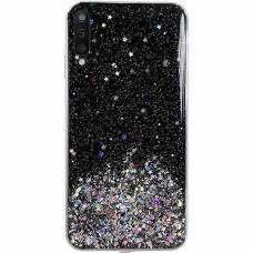 "Blizgus Tpu Dėklas ""Wozinsky Star Glitter"" Samsung Galaxy A50 Juodas"