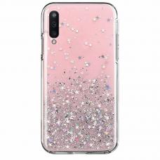 "Blizgus Tpu Dėklas ""Wozinsky Star Glitter"" Samsung Galaxy A70 Rožinis"