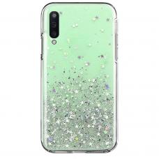 """Blizgus Tpu Dėklas """"Wozinsky Star Glitter"""" Samsung Galaxy A70 Žalias"""