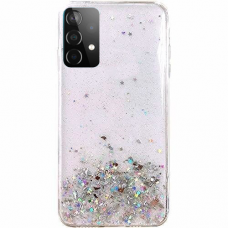Blizgus Tpu Dėklas Wozinsky Star Glitter Samsung Galaxy A72 4G permatomas