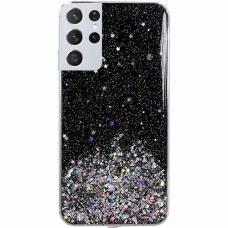 "Blizgus Tpu Dėklas ""Wozinsky Star Glitter"" Samsung Galaxy S21 Ultra 5G juodas"