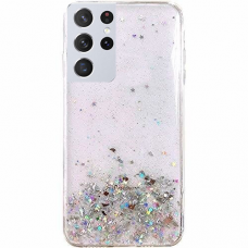 "Blizgus Tpu Dėklas ""Wozinsky Star Glitter"" Samsung Galaxy S21 Ultra 5G permatomas"