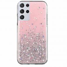 "Blizgus Tpu Dėklas ""Wozinsky Star Glitter"" Samsung Galaxy S21 Ultra 5G rožinis"