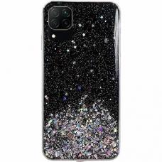 Blizgus TPU dėklas Wozinsky Star Glitter Shining Samsung Galaxy A42 5G juodas