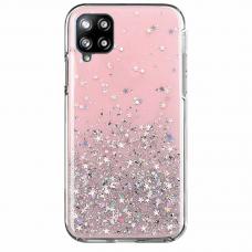 Blizgus TPU dėklas Wozinsky Star Glitter Shining Samsung Galaxy A42 5G rožinis