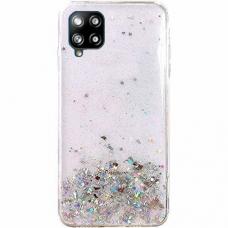 Blizgus TPU dėklas Wozinsky Star Glitter Samsung Galaxy A42 5G permatomas