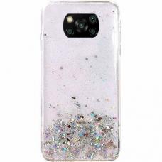 Blizgus TPU dėklas Wozinsky Star Glitter Xiaomi Mi 10T Lite Permatomas