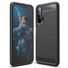 "Lankstus Tpu Dėklas ""Carbon Case Flexible"" Huawei Honor 20 / 20 Pro Juodas"