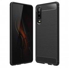 "Lankstus Tpu Dėklas ""Carbon Case Flexible"" Huawei P30 Juodas"