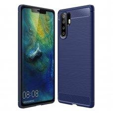 "Lankstus Tpu Dėklas ""Carbon Case Flexible"" Huawei P30 Pro Mėlynas"