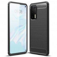 Carbon Case  Tpu Dėklas Huawei P40 Juodas
