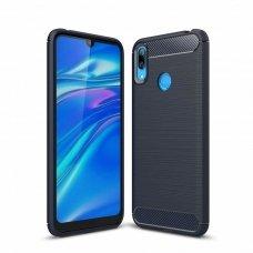 "Lankstus Tpu Dėklas ""Carbon Case Flexible"" Huawei Y6 2019 Mėlynas"